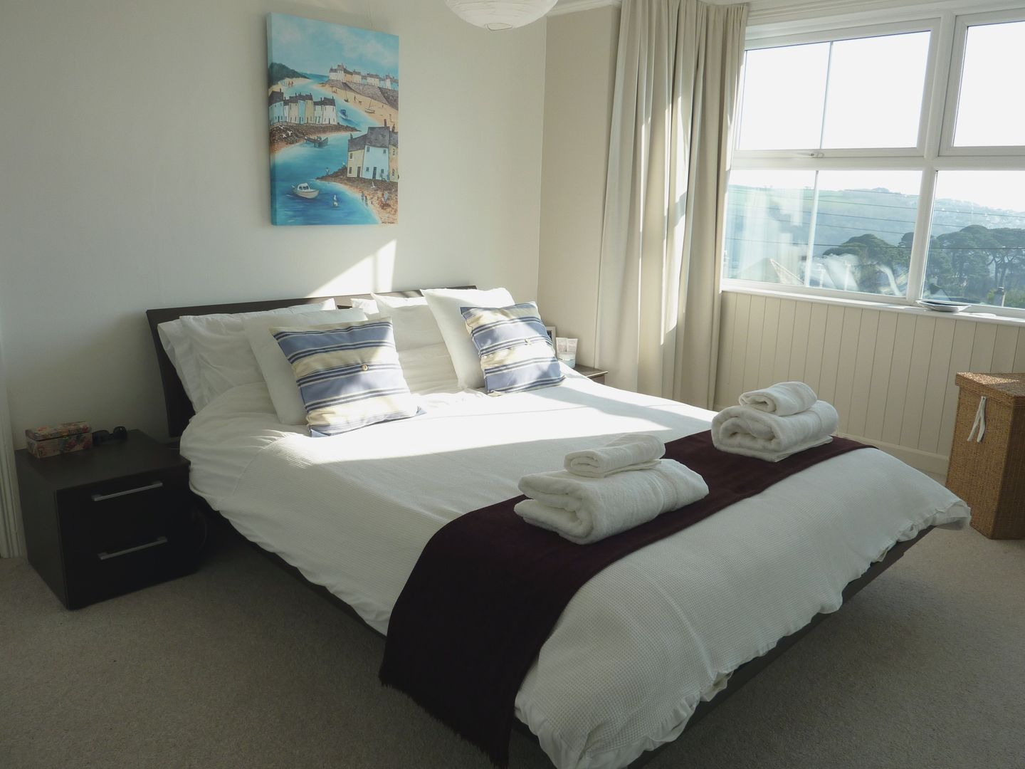 7 Park Road Fowey Double Bedroom