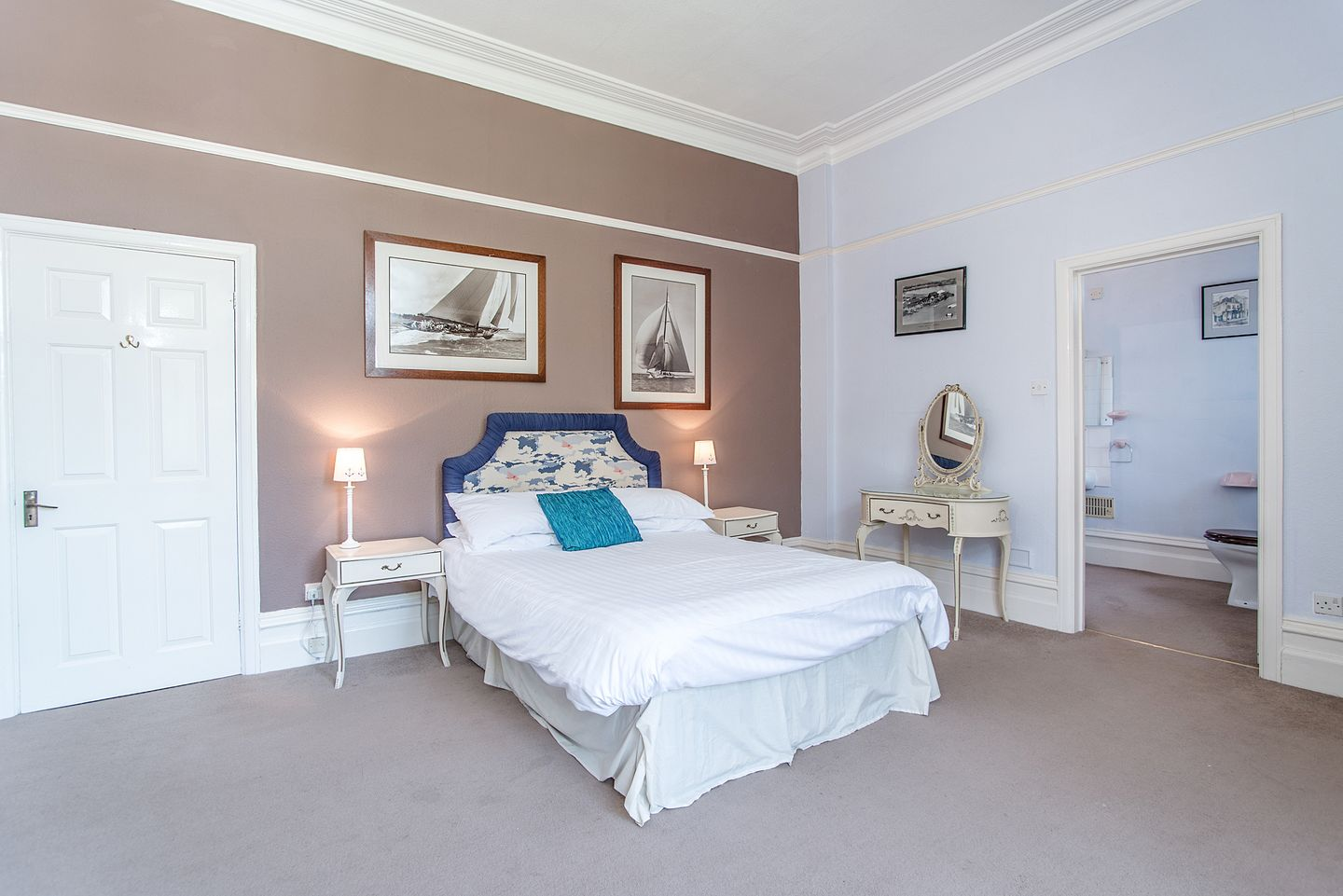 Alston Hall Plymouth Double Bedroom With Ensuite