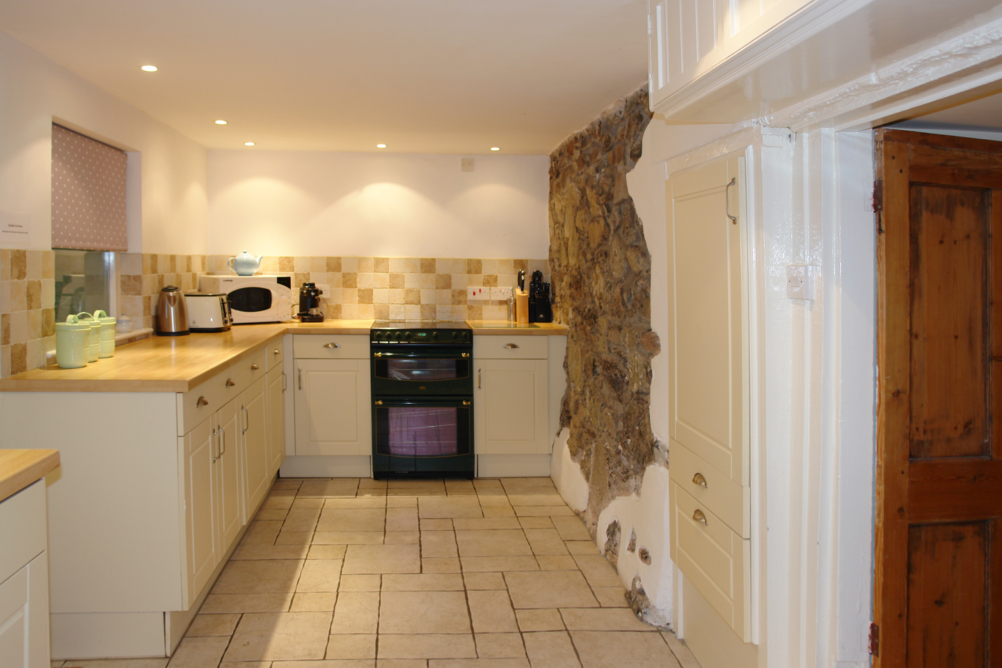 April Cottage Coverack Kitchen With Exposed Stones