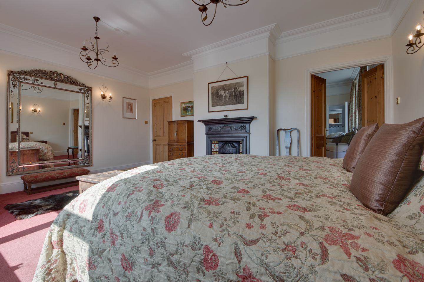 Beechlands Chagford Double Bedroom With Fire