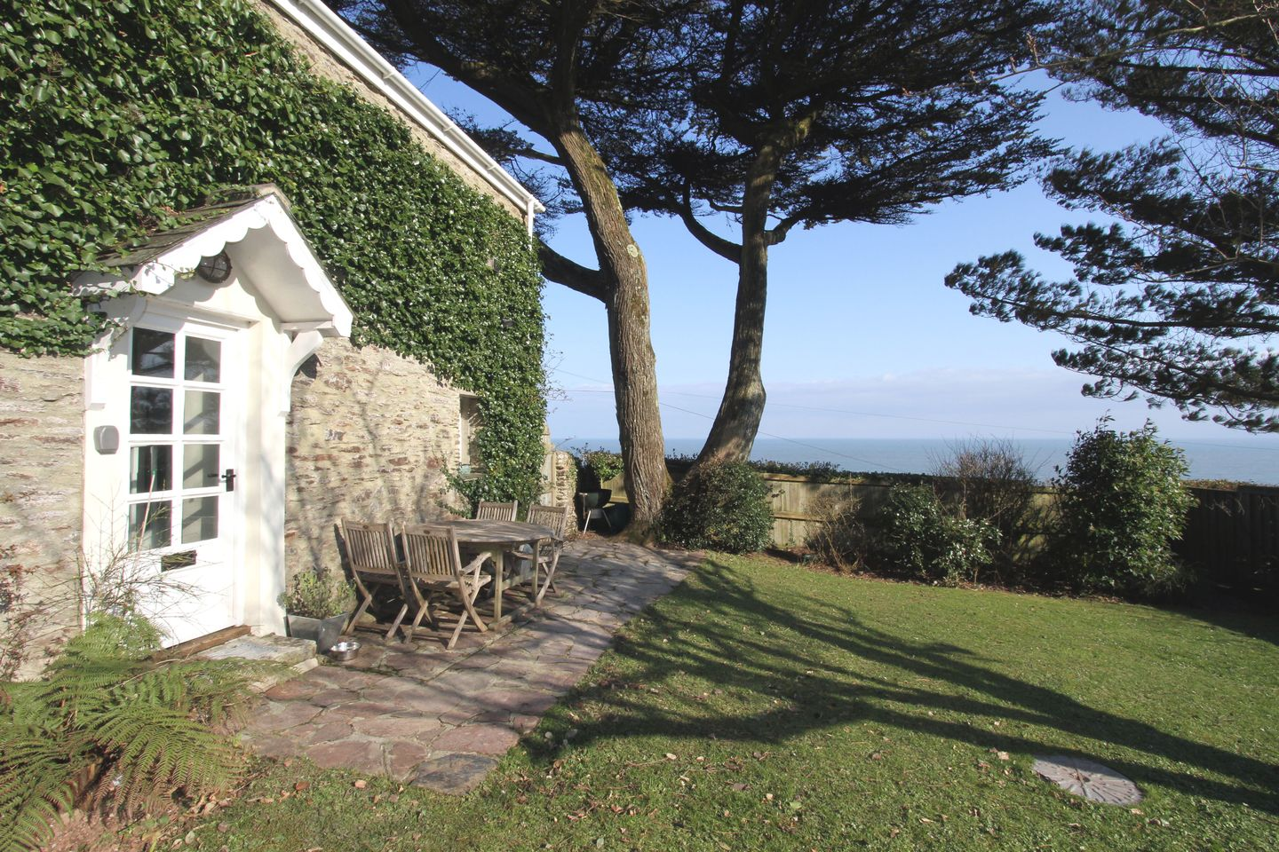 Coach House Cottage Strete Gardens View To Sea