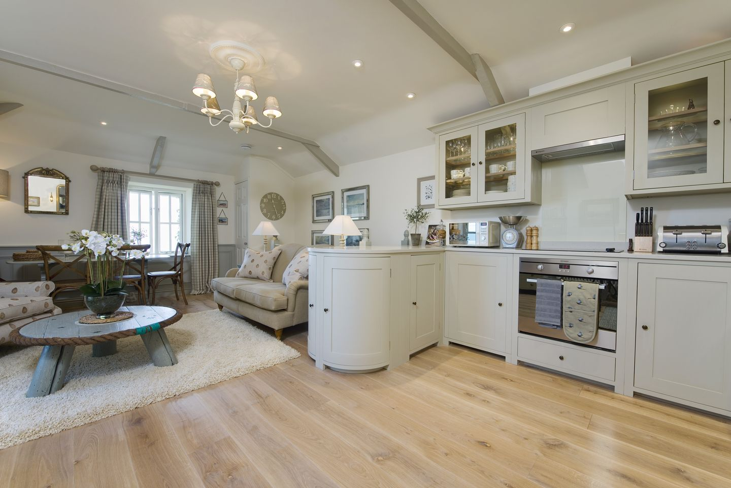Coach House Cottage Strete Modern Kitchen