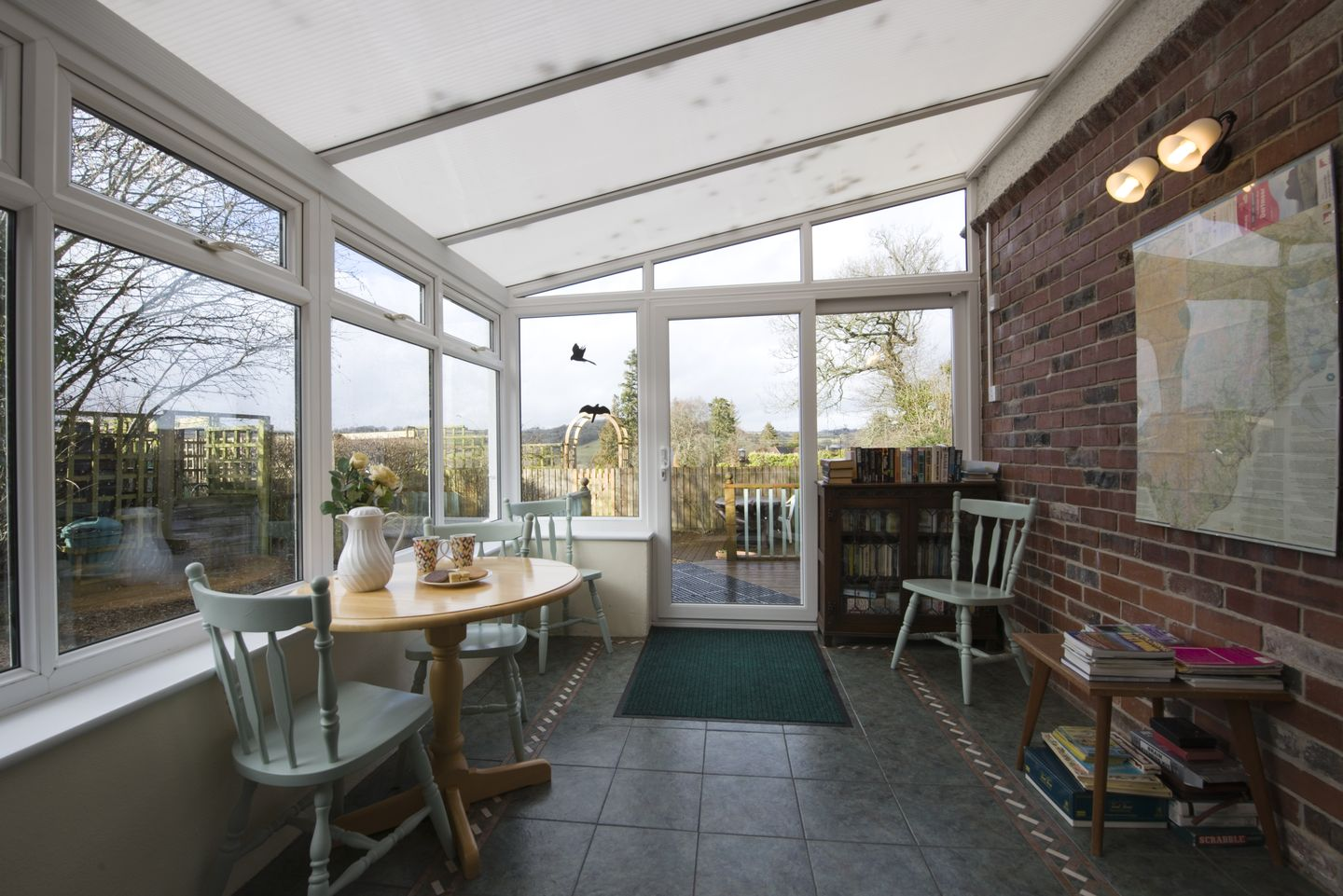 Dial House Cottage Chagford Conservatory With Chairs
