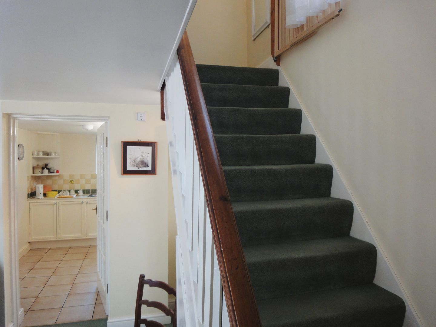Dial House Cottage Chagford Kitchen And Stairs