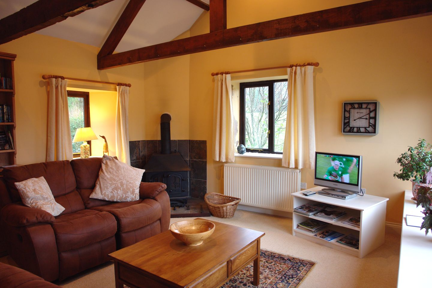 Gardeners Cottage South Zeal Living Room With Fire