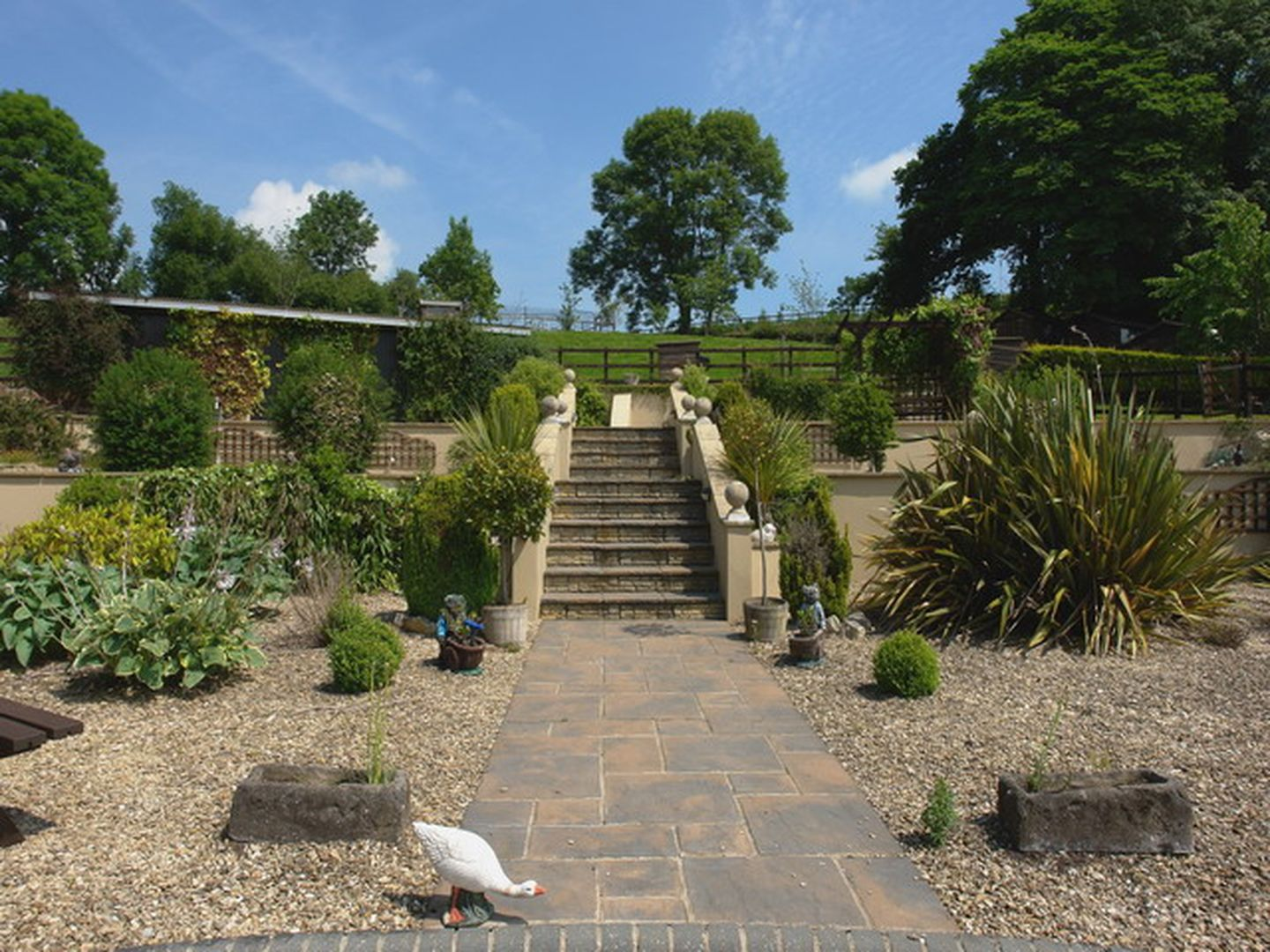 Lower Wadden Farmhouse Devon Terrace Garden