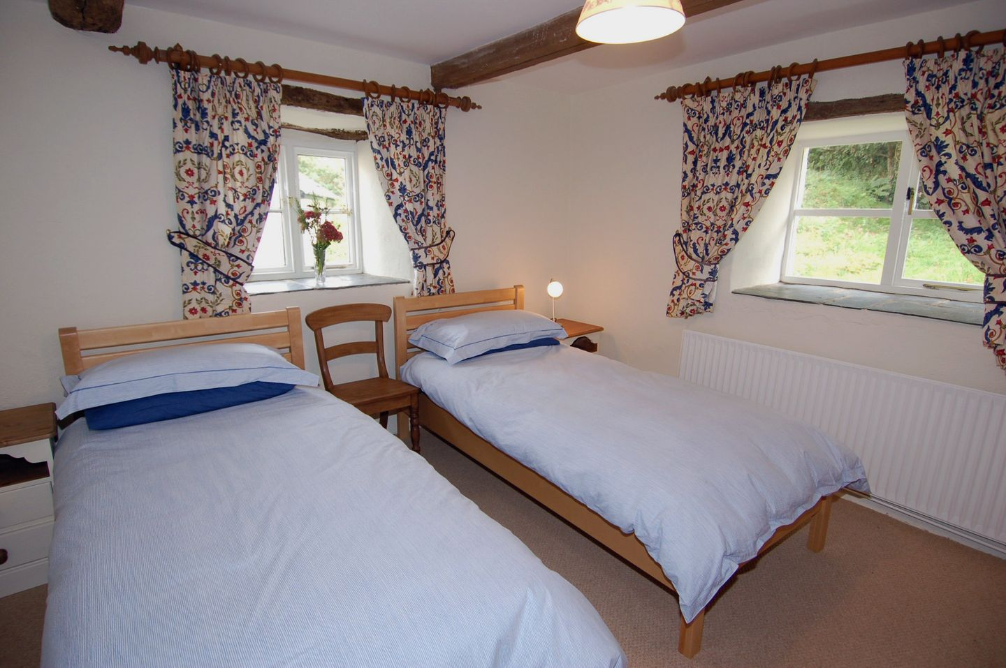 Lower Well Cottage Ugborough Twin Bedroom