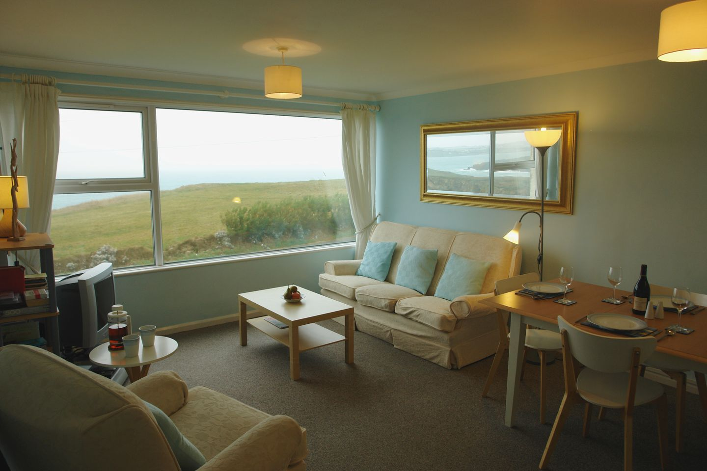 Spindrift No 3 Newquay Living Room